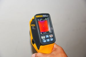 Infra red thermal imager to detect cold spots